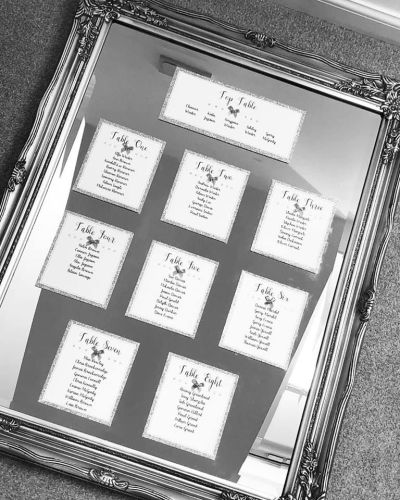 DIY Table Plan Cards
