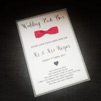Wedding Post Box Sign