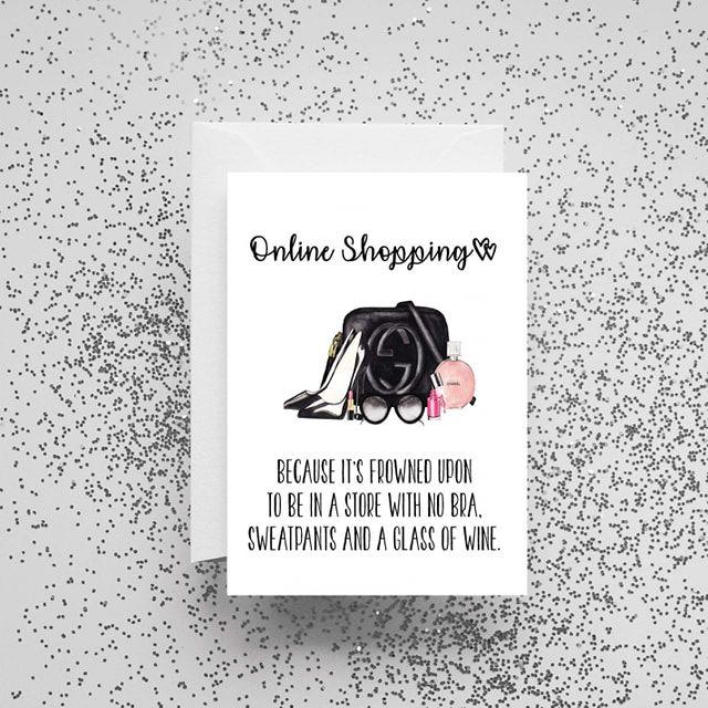 'Online Shopping' Card