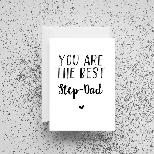 'You Are The Best Step-Dad' Card