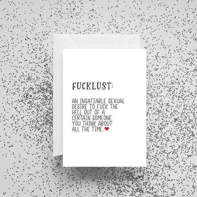 'Fucklust' Card