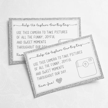 Help Us Capture Our Big Day Cards