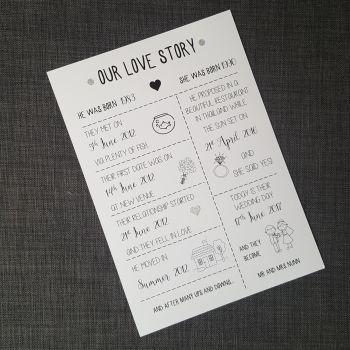 Love Story Personalised Print