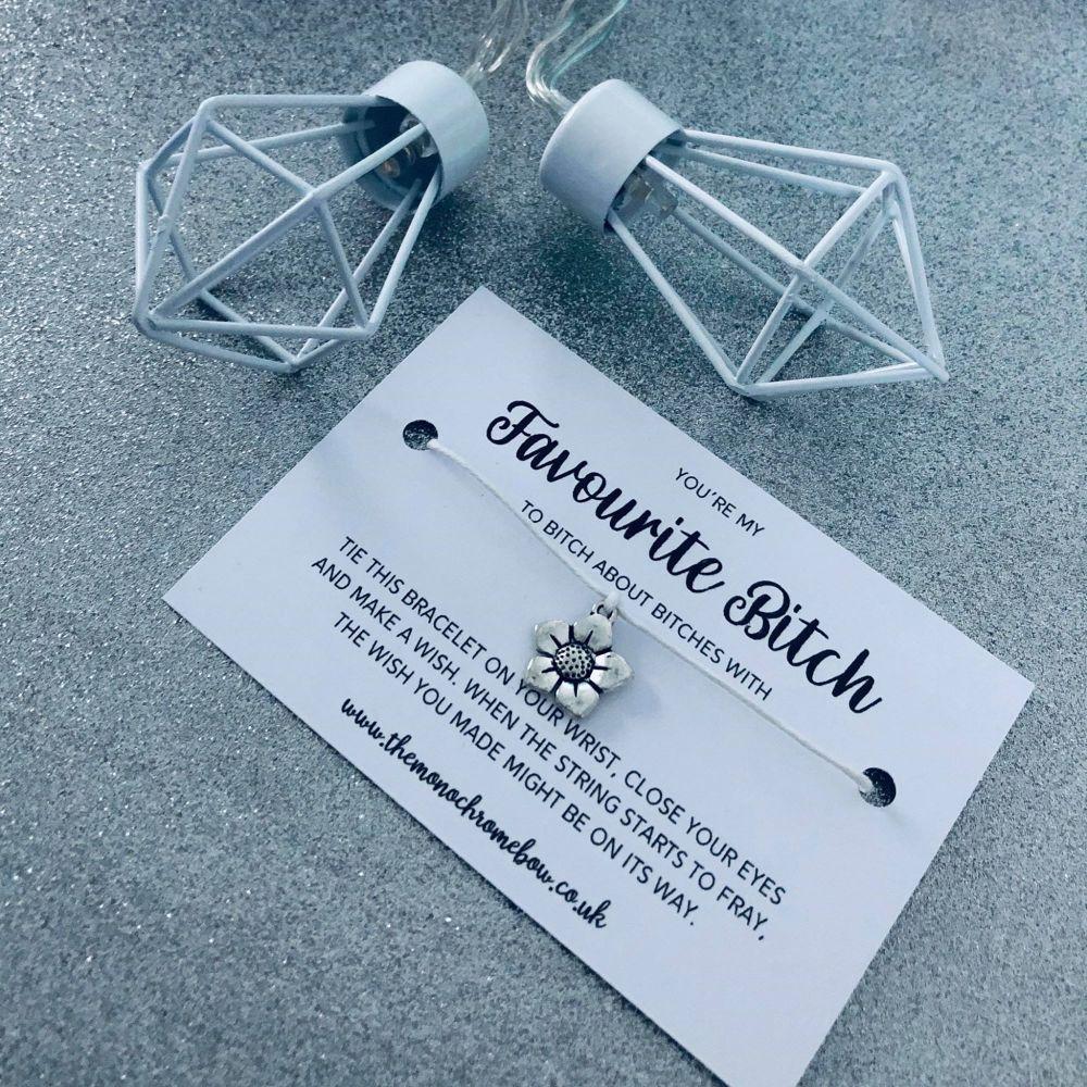 'Favourite Bitch' Wish Bracelet