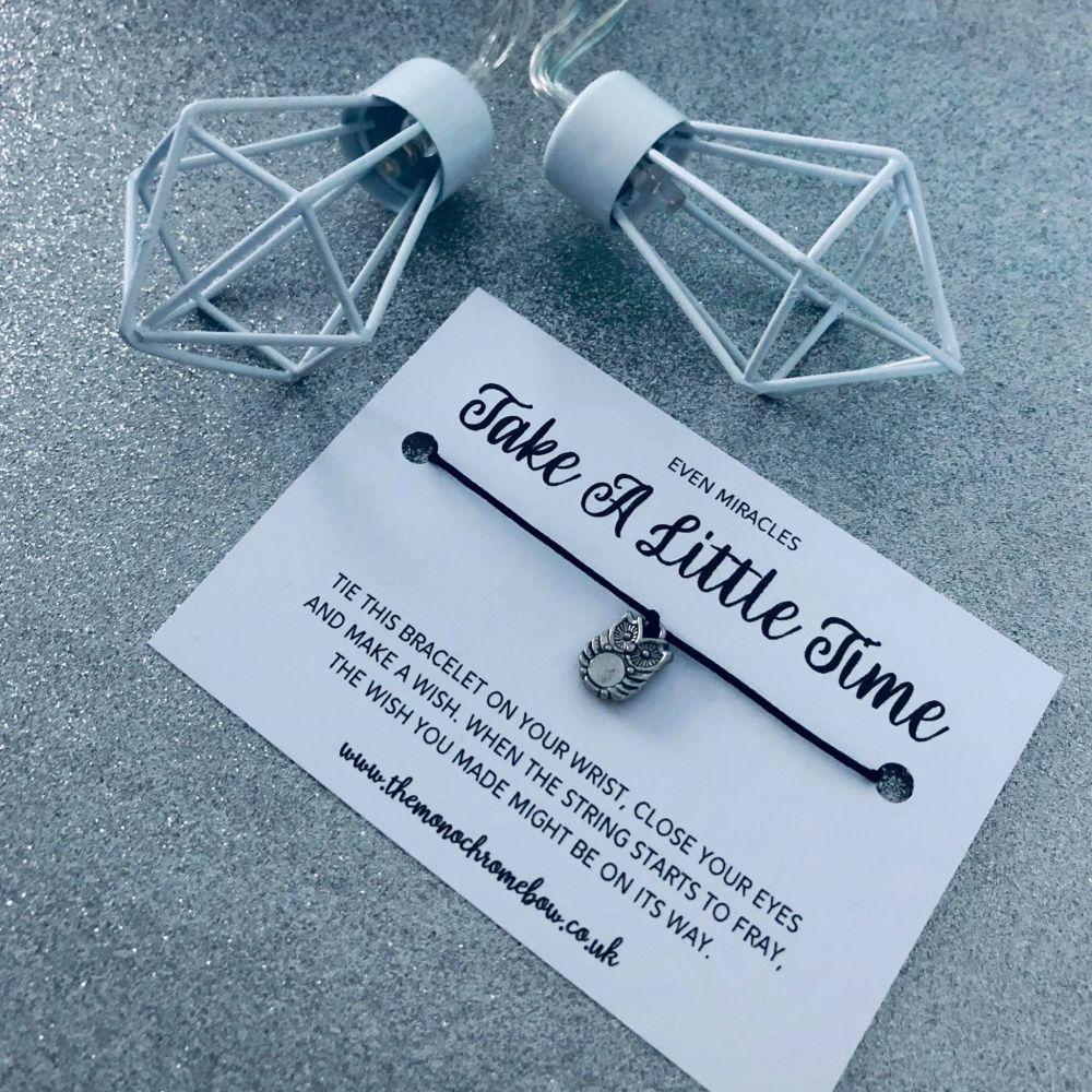 'Take A Little Time' Wish Bracelet