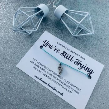 'You're Still Trying' Wish Bracelet