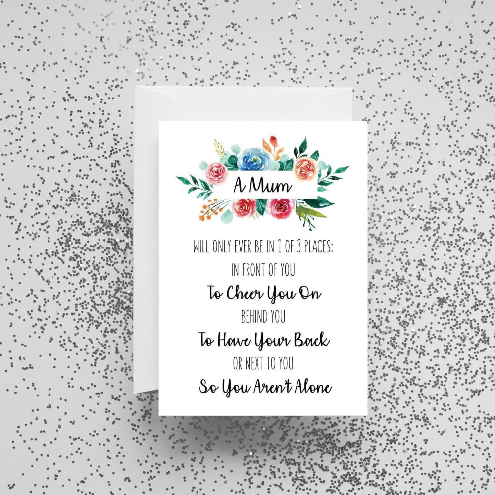 'A Mum Will Only Ever Be in 1 of 3 Places' Card