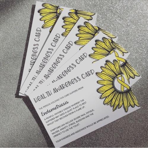 Endometriosis Health Awareness Card