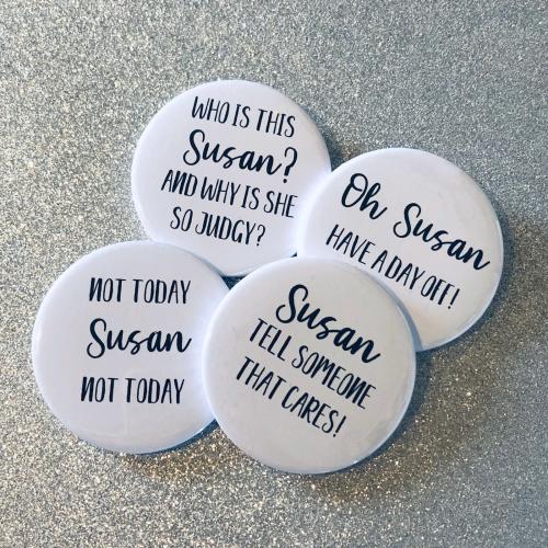 'Susan' Badge Set