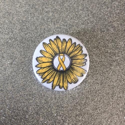 'Yellow Sunflower & Ribbon'