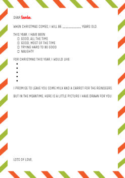 Child's Christmas Wish List Letter