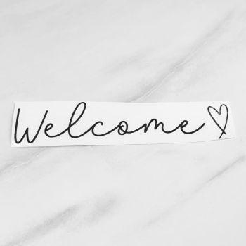 'Welcome' Letter Box Vinyl Label