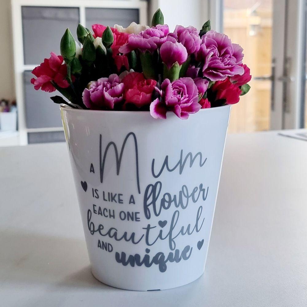 'A Mum is Like a Flower' Planter Pot