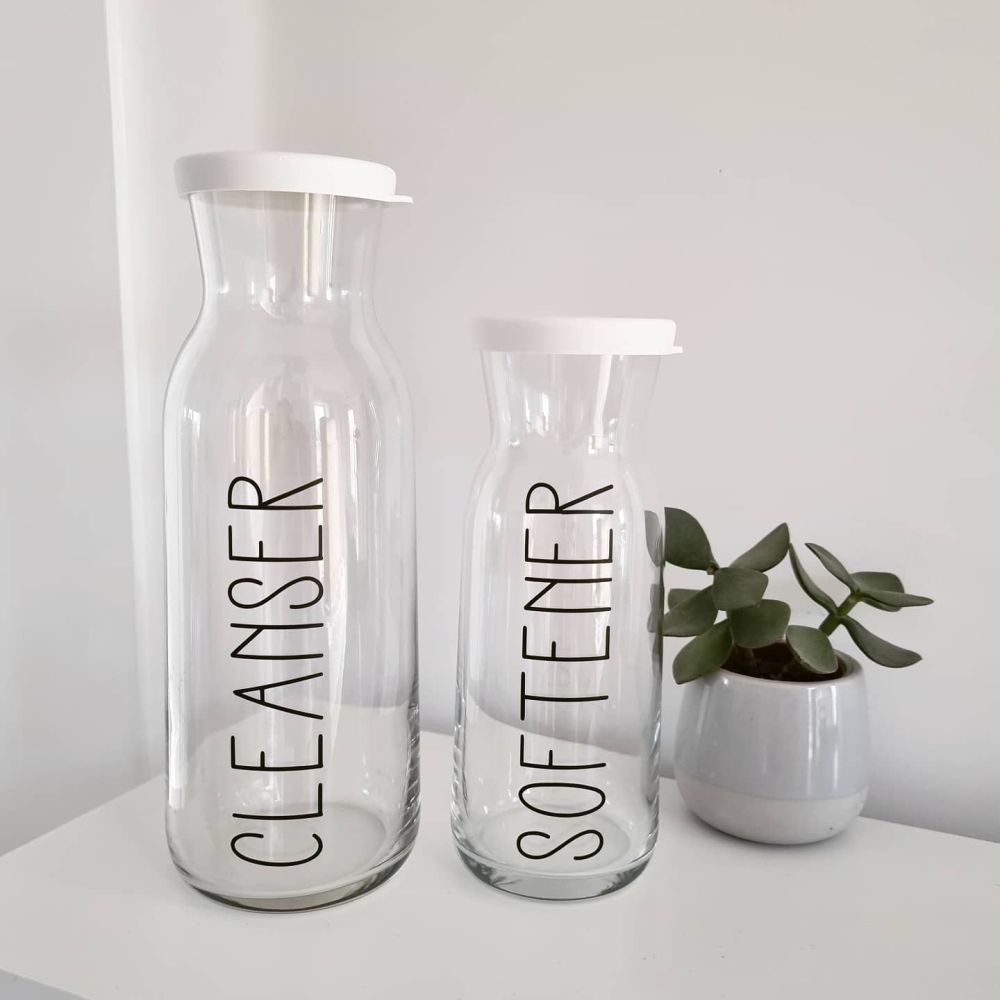 Carafe Glass Bottle with Lid