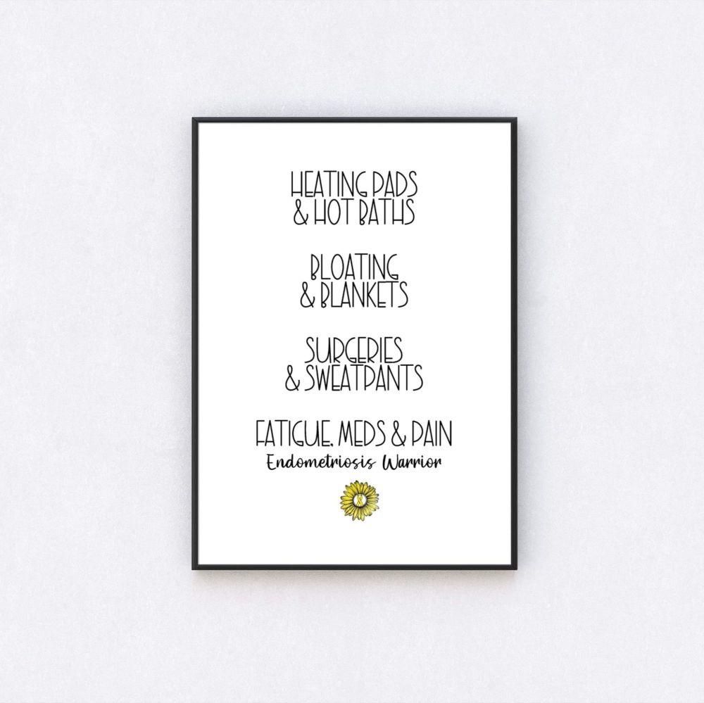 Endometriosis Warrior Print