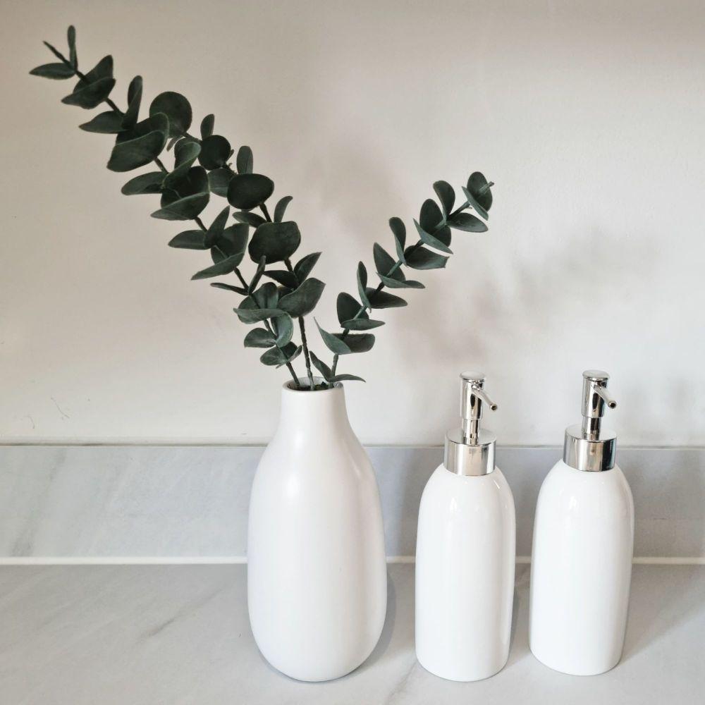'Personalised' White Ceramic Dispenser