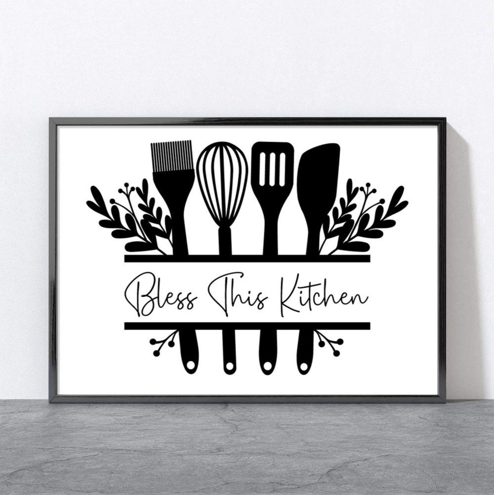 Bless This Kitchen Print