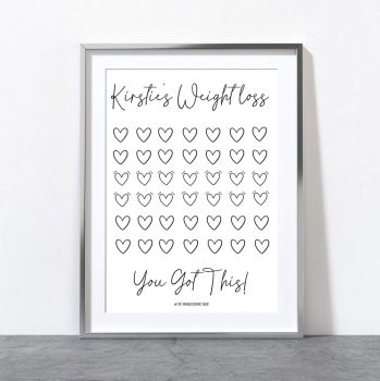 Personalised Weight Loss Print