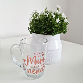 'Always My Mum' Personalised Glass Mug