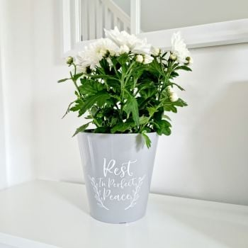 'Rest in Perfect Peace' Planter Pot