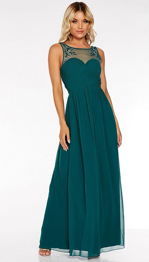 teal_chiffon_embellished_mesh_maxi_dress