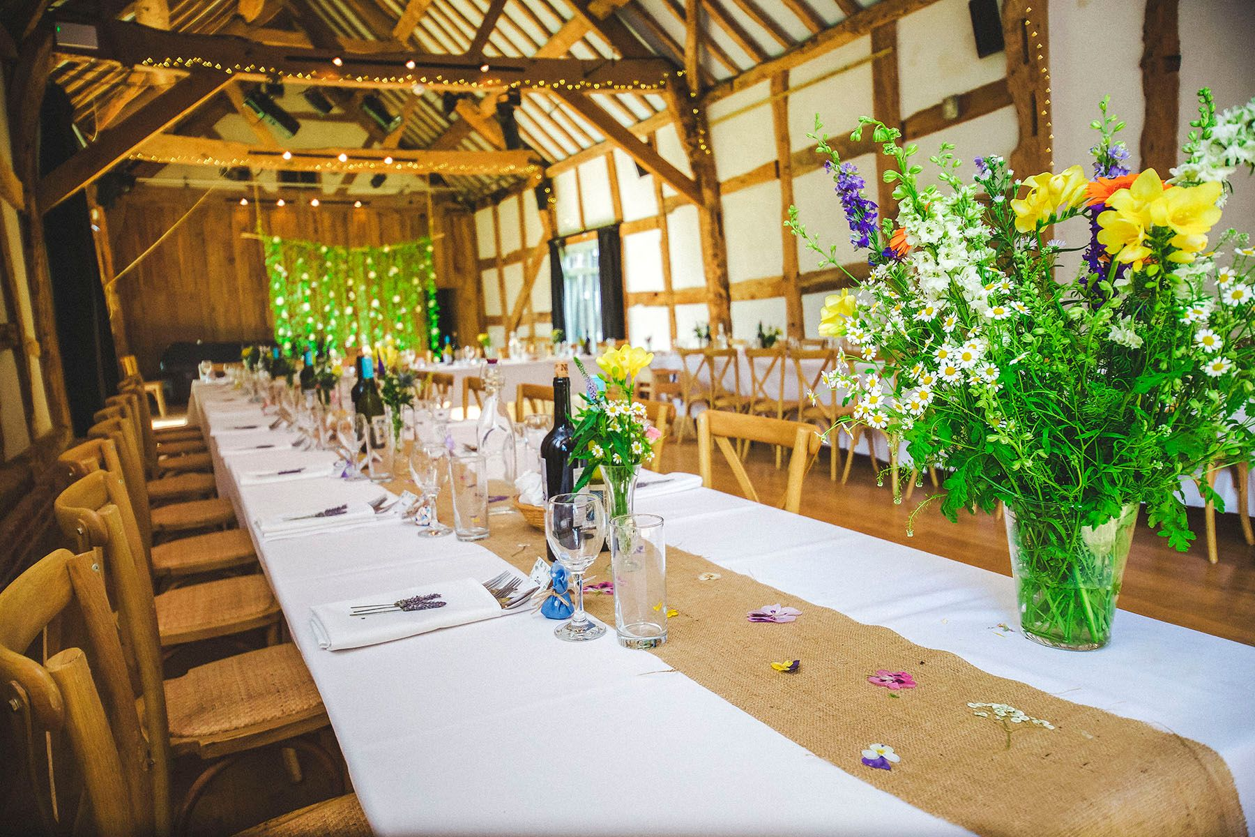 Great barn Hellens Wedding