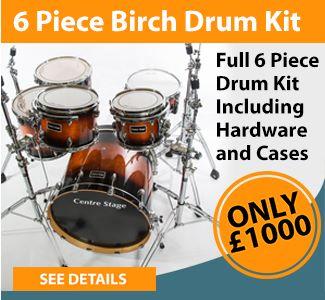 Centre Stage 6 Piece Birch Drum Kit