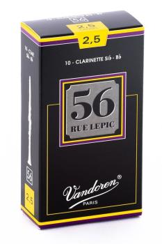 Vandoren 56 Rue Lepic Bb Clarinet Reed (Box 10) - Strength 2.5