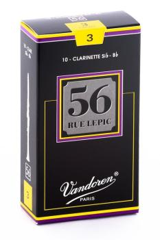 Vandoren 56 Rue Lepic Bb Clarinet Reed (Box 10) - Strength 3.0