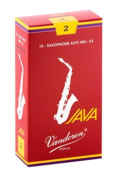 Vandoren Alto Sax Java Reed Red Cut (Box 10) - Strength 2.0