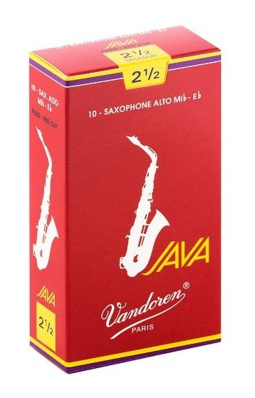 Vandoren Alto Sax Java Reed Red Cut (Box 10) - Strength 2.5
