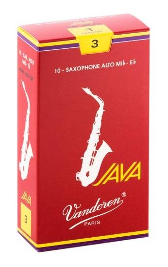 Vandoren Alto Sax Java Reed Red Cut (Box 10) - Strength 3.0