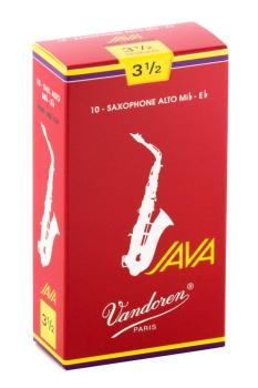 Vandoren Alto Sax Java Reed Red Cut (Box 10) - Strength 3.5