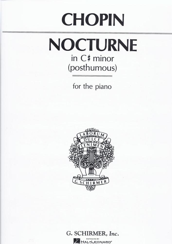 Frederic Chopin: Nocturne In C Sharp Minor (Posthumous)