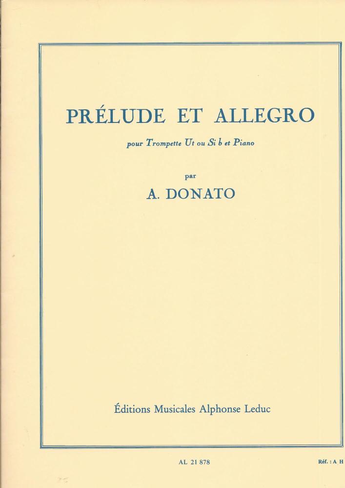 Prelude et Allegro for Trumpet - Donato