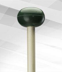 5-Dark Green Rubber (Medium Hard) Mallet - Unwound Series