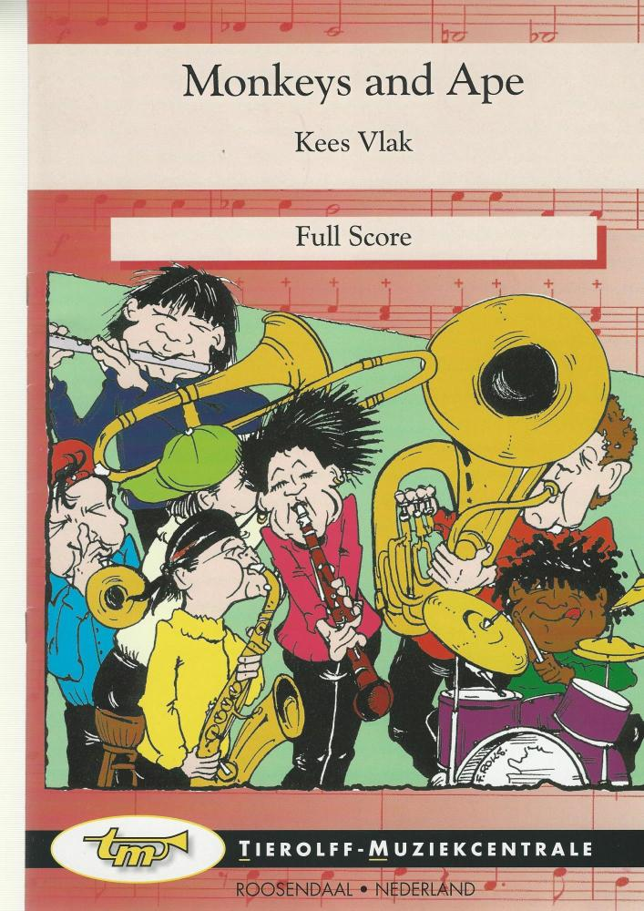 Monkeys and Apes for Brass Band (4-part Level 2) - Kees Vlak