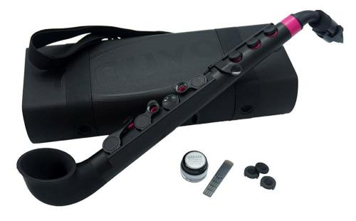 jSax in black with pink trim