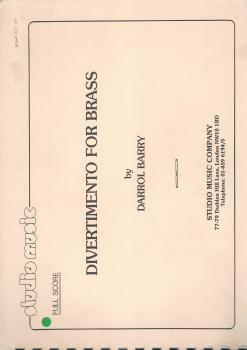 Divermento for Brass Band (Score Only) - Darrol Barry