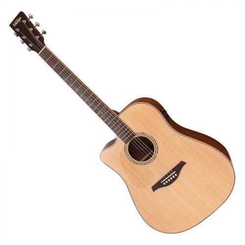 Vintage Electro Left Handed Acoustic Satin Natural