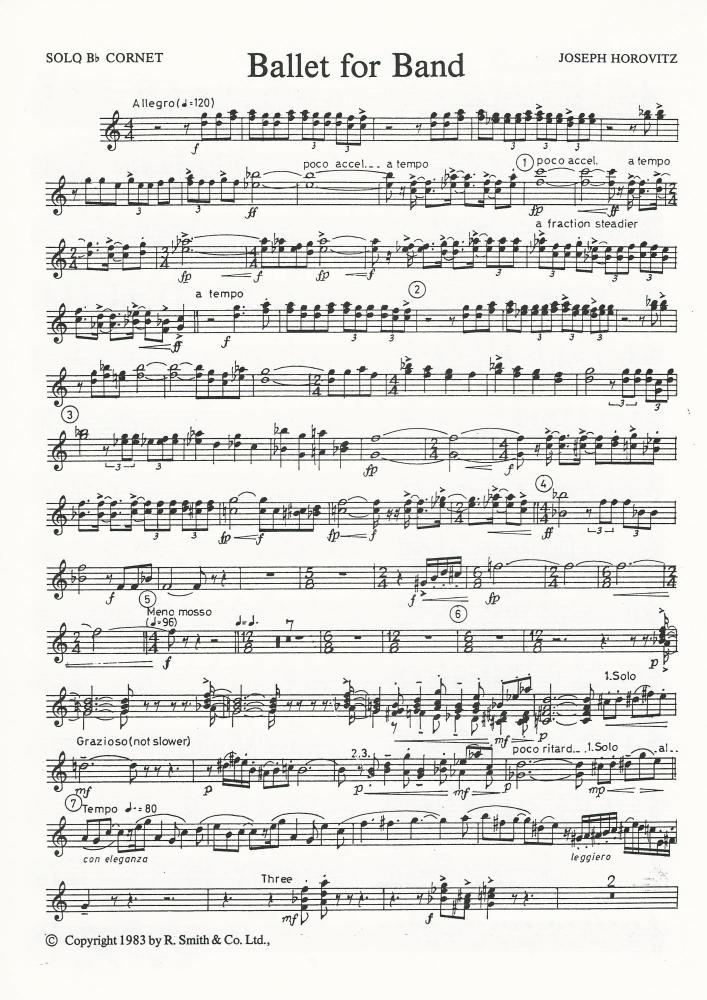 Ballet for Band for Brass Band (Parts Only) - Joseph Horovitz - NO SCORE