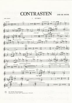 Contrasten for Brass Band (Parts Only) - Jan de Haan - NO SCORE