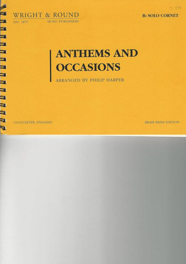 Anthems and Occasions Solo Cornet - arr. Philip Harper
