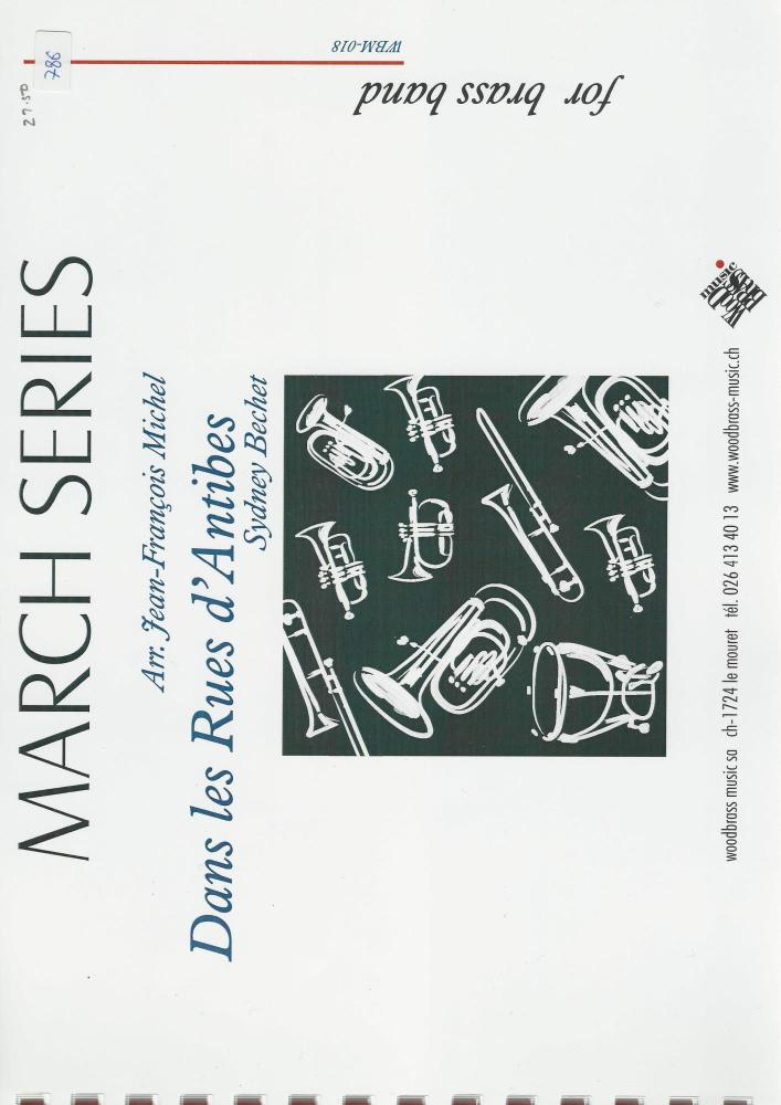 Dans les Rues d'Antibes for Brass Band - Sydney Bechet, arr. Jean-Francois