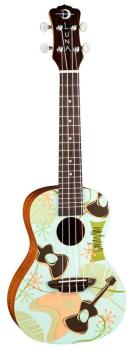 LUNA Concert Ukulele with Daddyo Graphic including Gig Bag