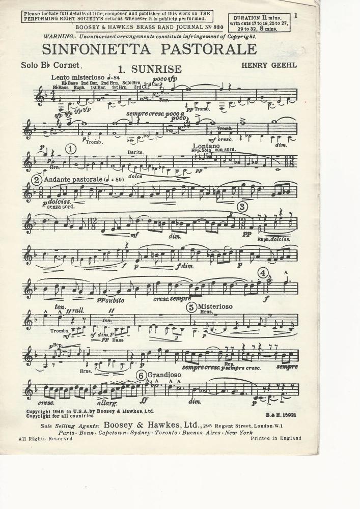 Sinfonietta Pastorale for Brass Band - Henry Geehl