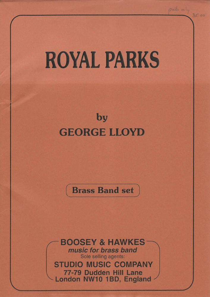 Royal Parks for Brass Band (Parts Only) - George Lloyd - NO SCORE