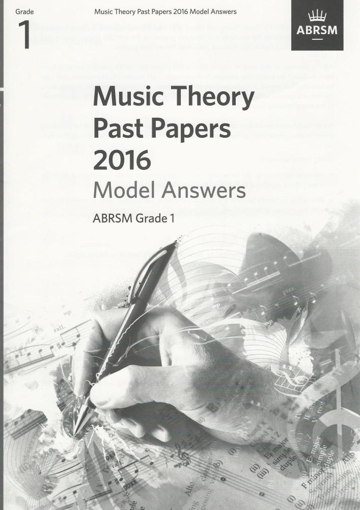 ABRSM Music Theory Past Papers 2016 Model Answers Grade 1