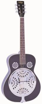 Vintage Acoustic Resonator Guitar ~ Black