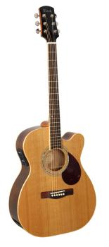 Adam Black O-7CE Folk/Orchestral Electro Cutaway Acoustic Natural Guitar